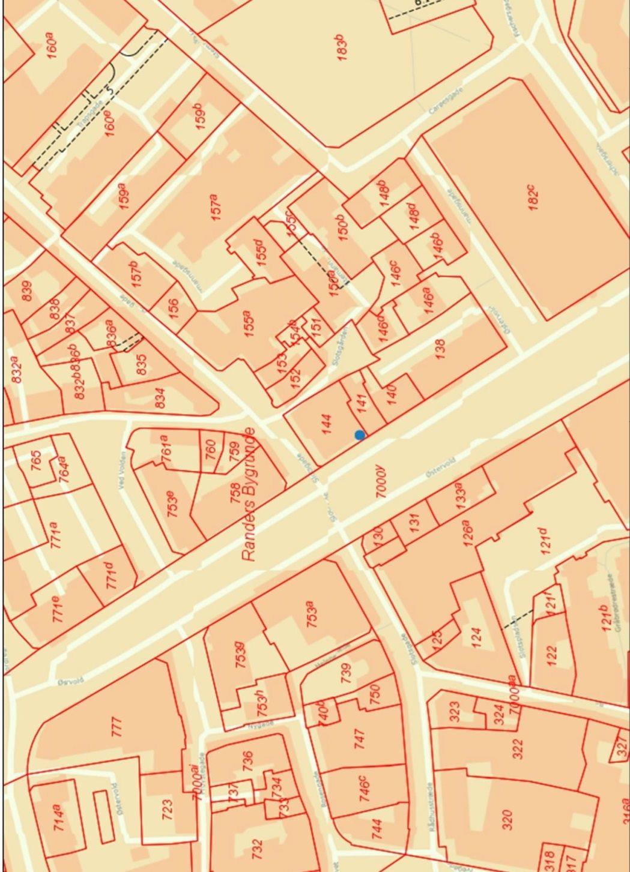 Bolig/erhverv på Østervold i Randers C - Kort