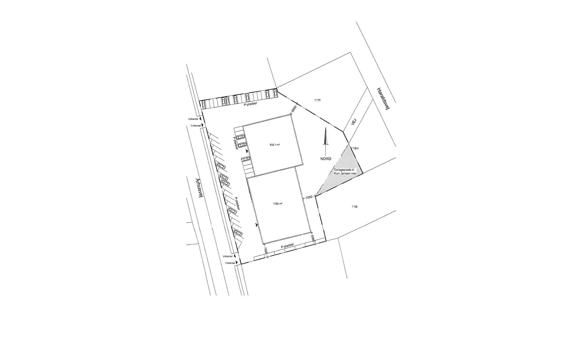Detail på Århusvej i Randers SØ - Plantegning