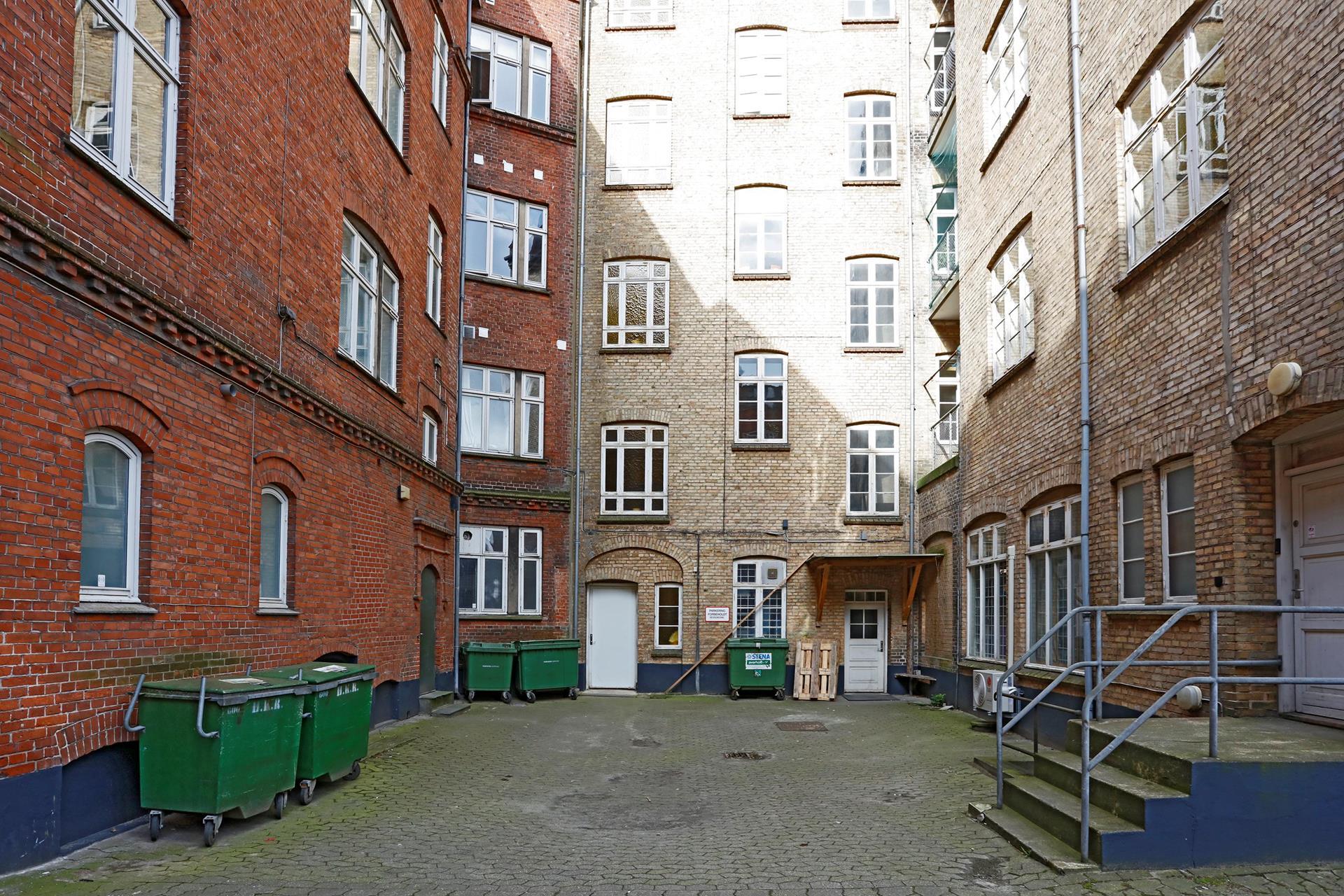 Detail på Borgergade i Horsens - Baggård