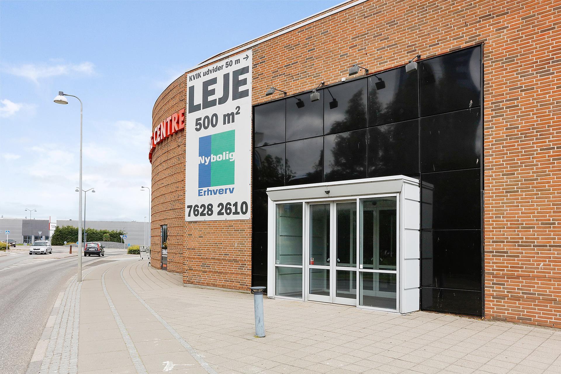 Detail på Ove Jensens Alle i Horsens - Facade