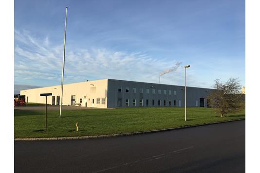 Produktion/lager på Kometvej i Horsens - Facade