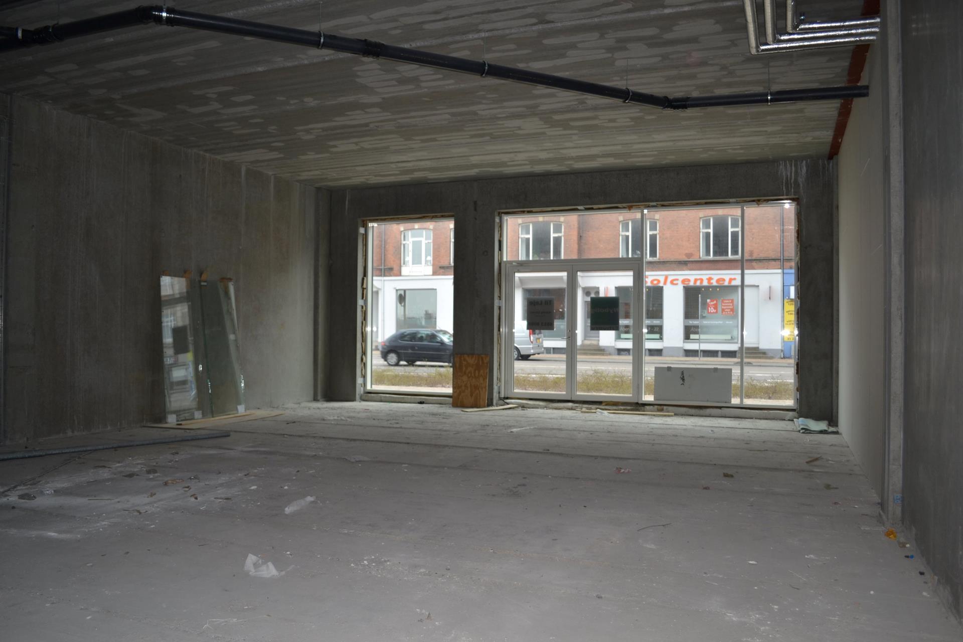 Detail på Østre Stationsvej i Odense C - Butikslokale