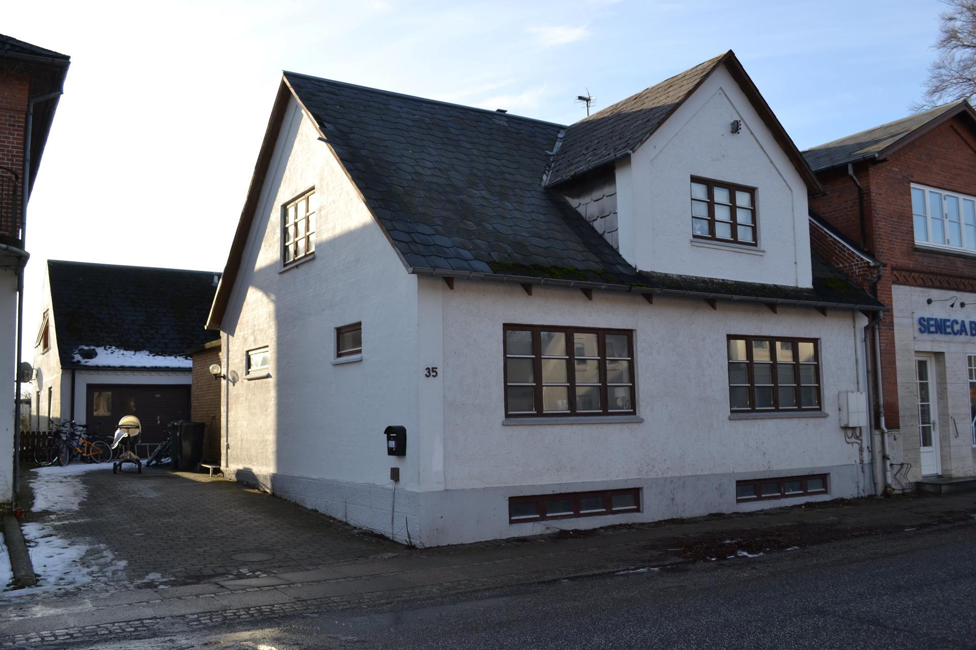 Boligudlejning på Nørregade i Glamsbjerg - Set fra vejen