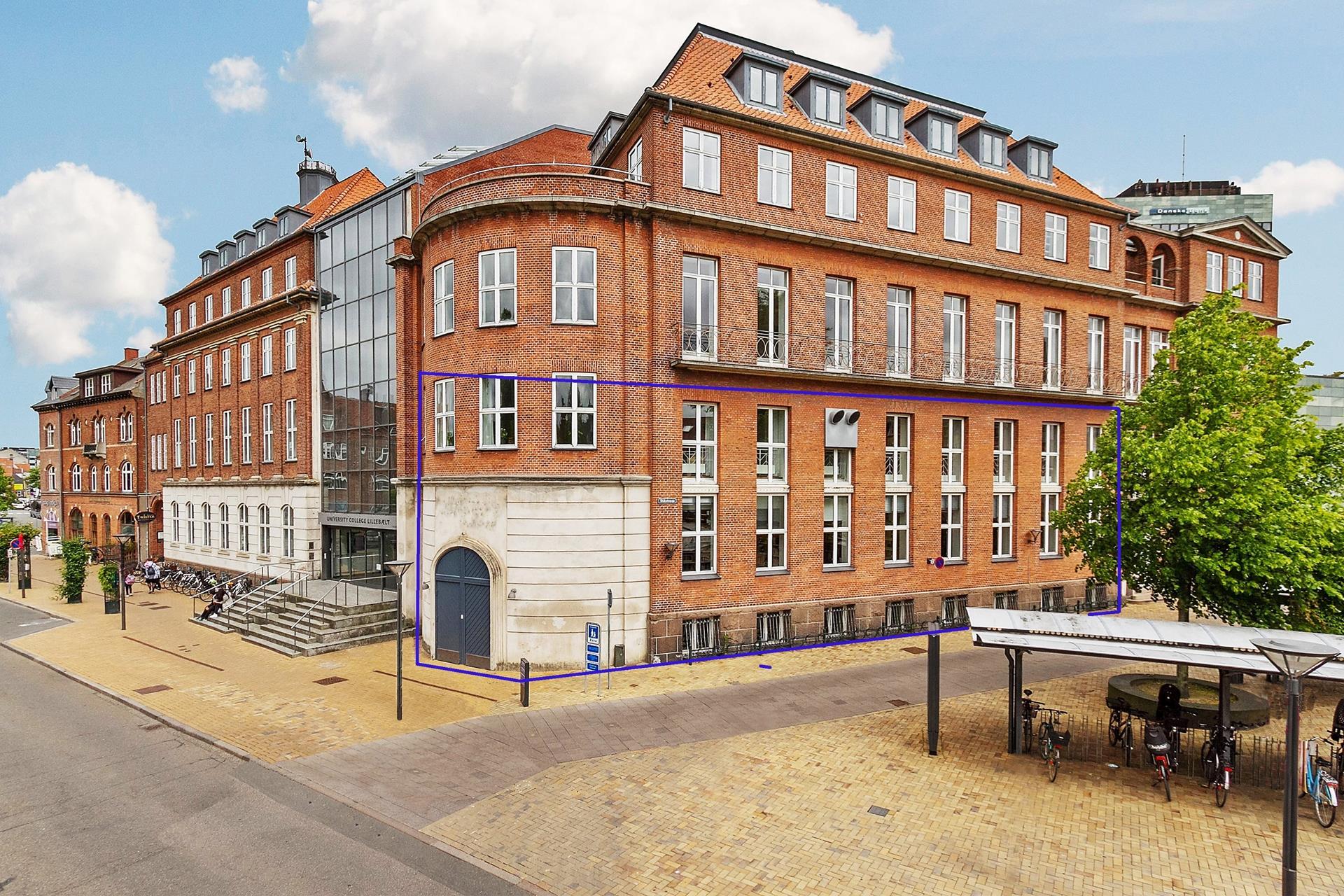 Detail på Asylgade i Odense C - Facade
