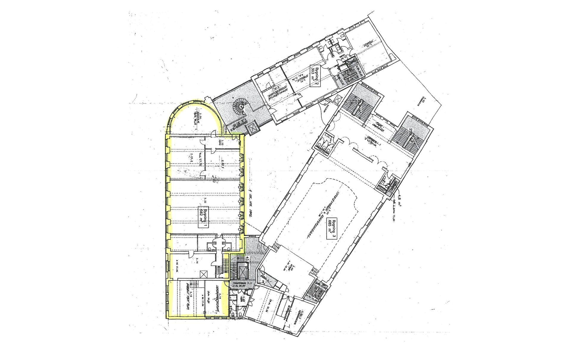 Detail på Asylgade i Odense C - Plantegning