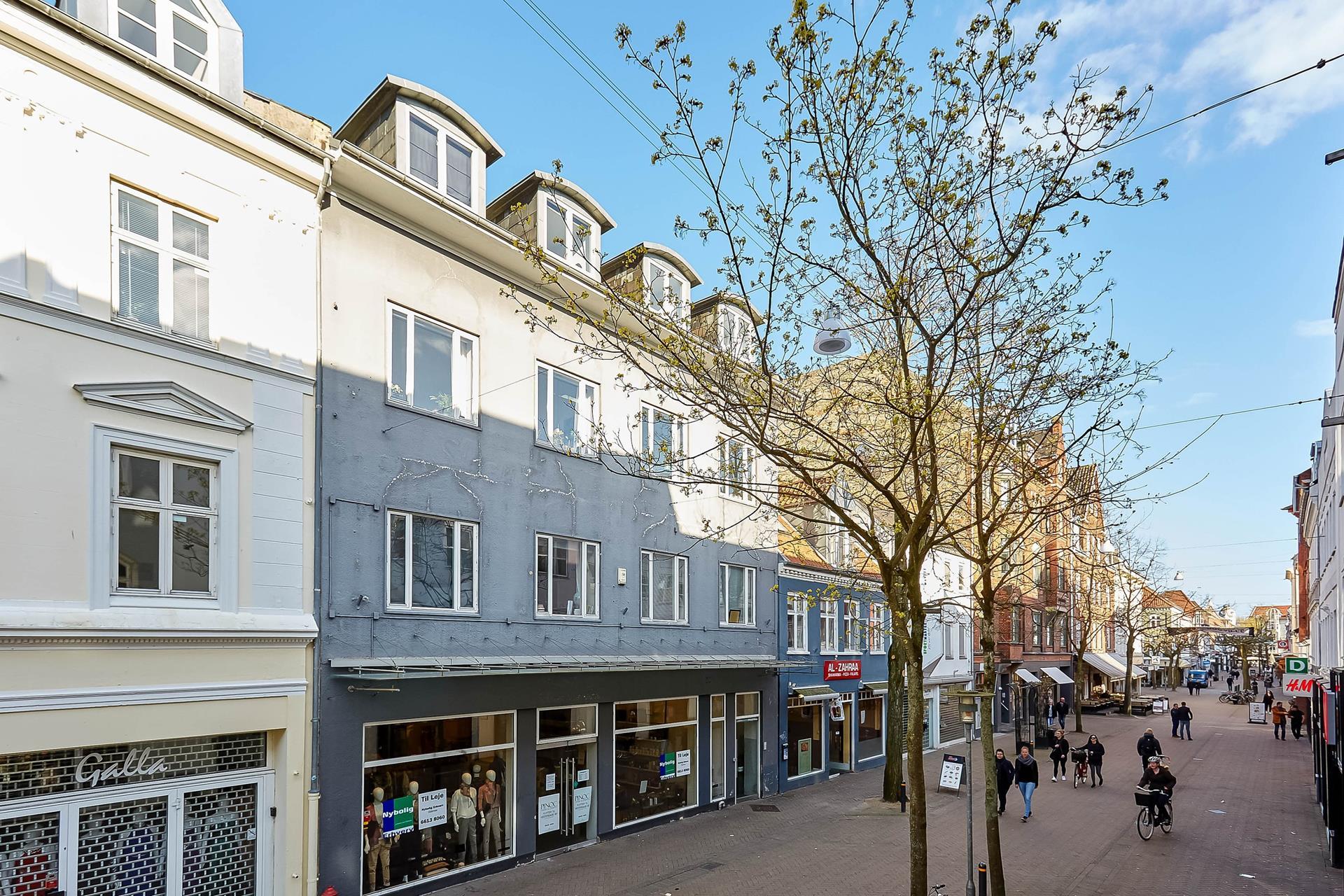 Detail på Kongensgade i Odense C - Mastefoto