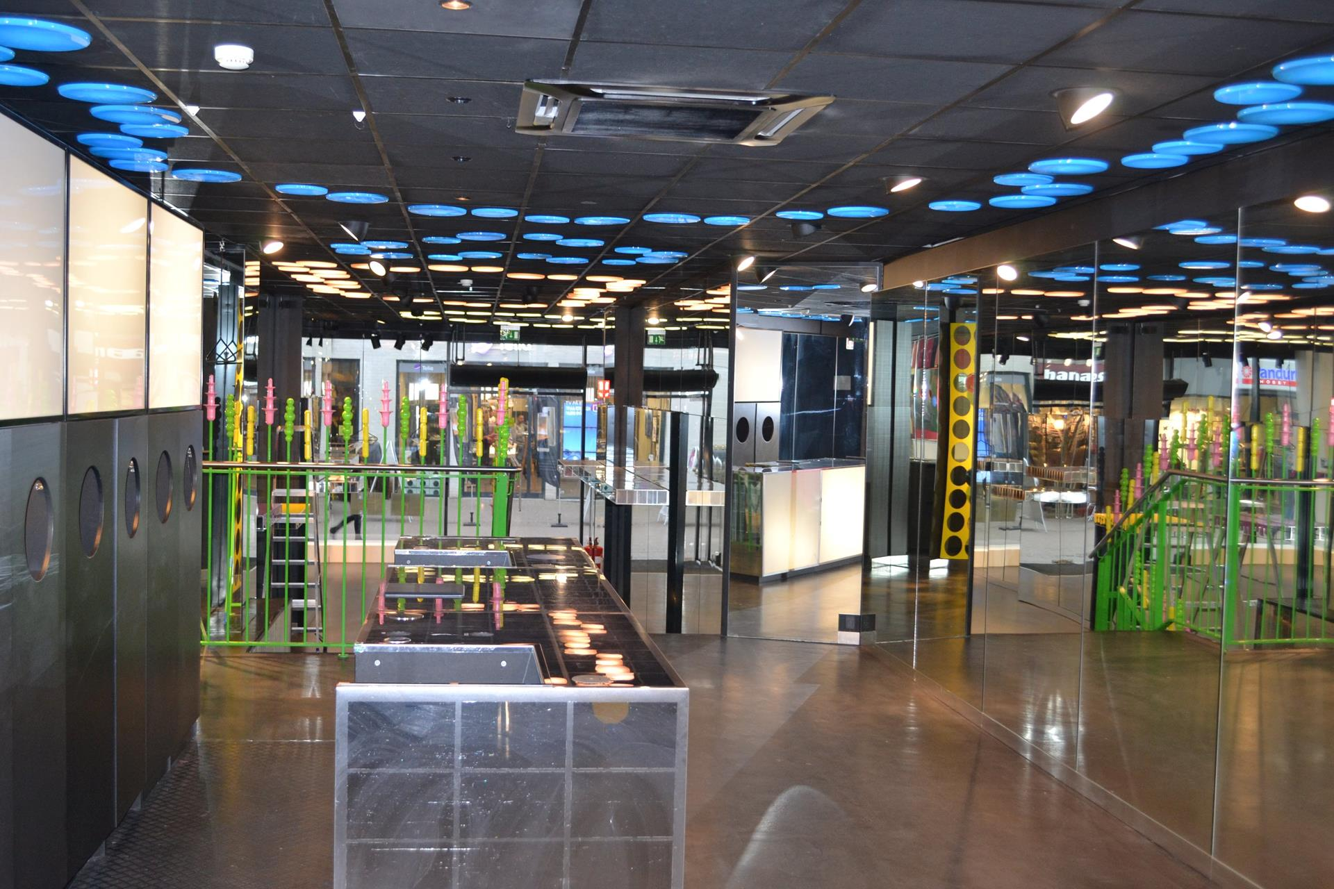 Detail på Vestergade i Odense C - Butikslokale