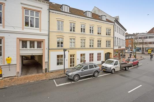 Detail på Nørregade i Odense C - Ejendommen