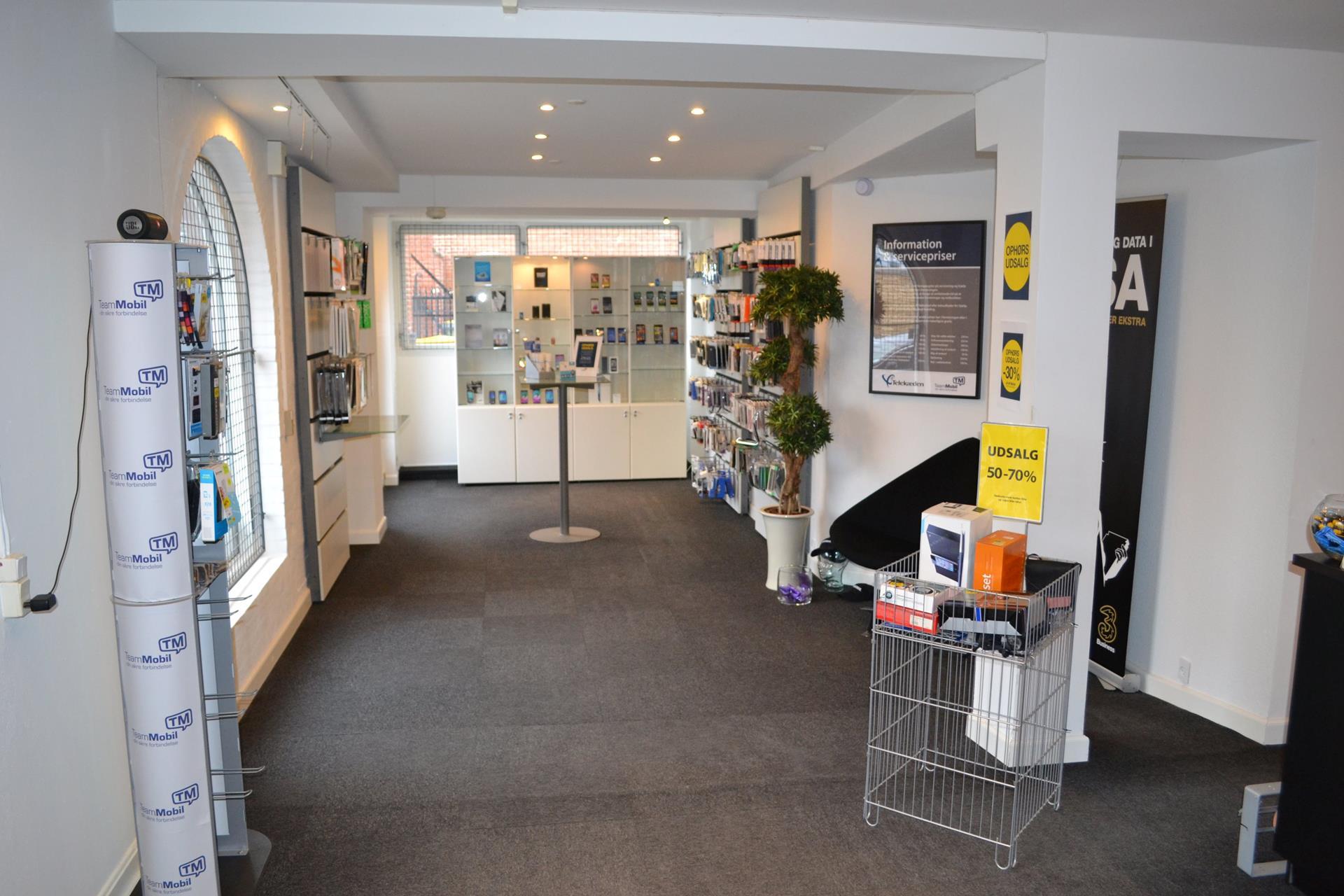 Detail på Falen i Odense C - Butikslokale