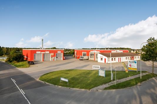Produktion/lager på Holkebjergvej i Odense SV - Mastefoto