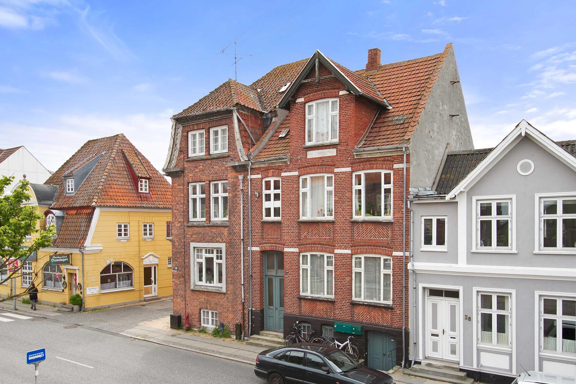 Boligudlejning på Havnegade i Rudkøbing - Facade