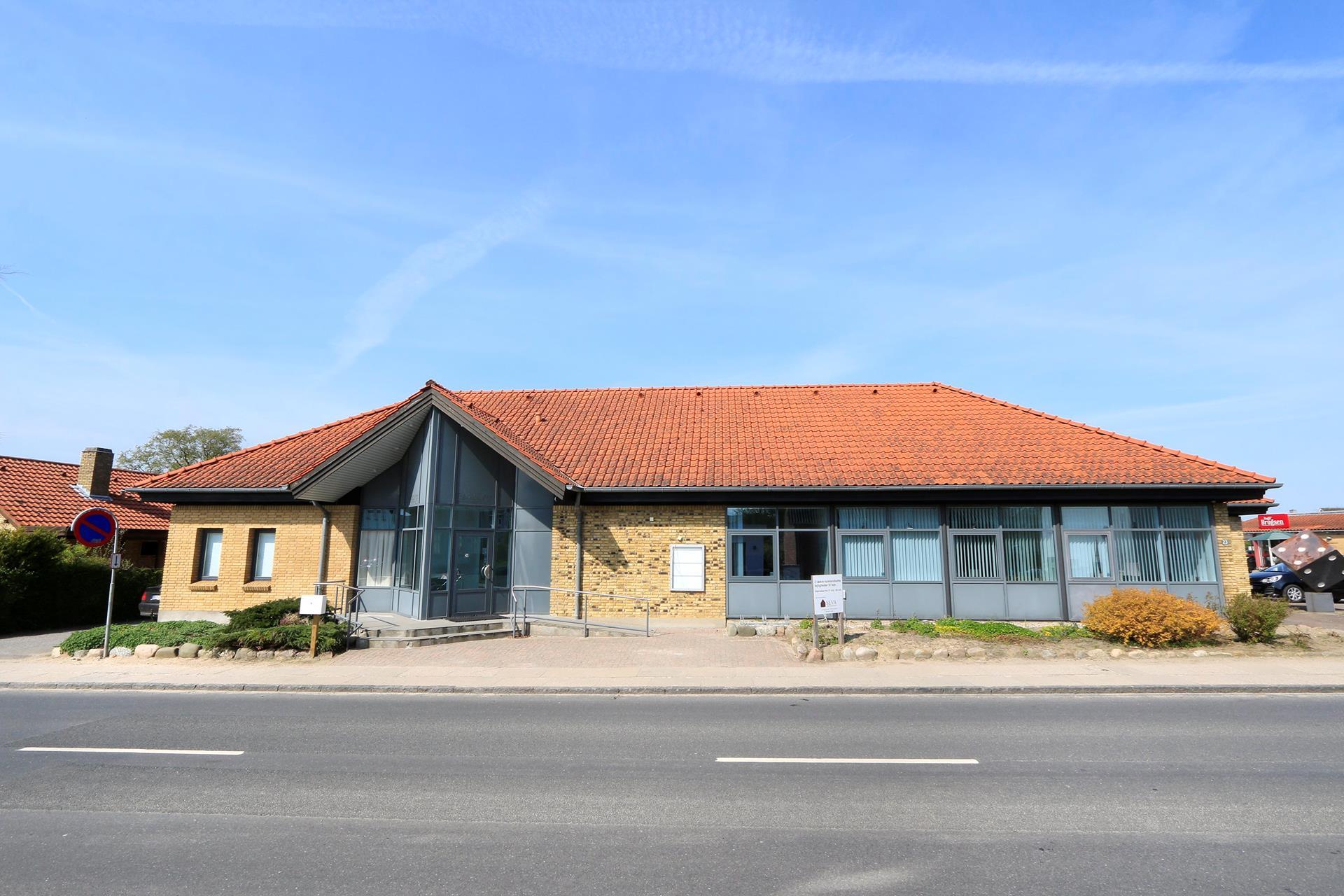Bolig/erhverv på Hestehavevej i Ryslinge - Facade