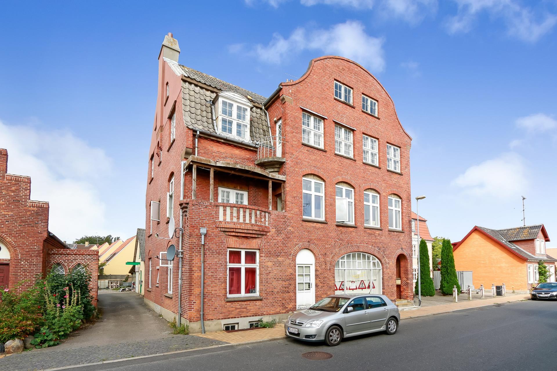 Bolig/erhverv på Ahlefeldtsgade i Rudkøbing - Ejendommen