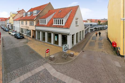 Detail på Bystrædet i Rudkøbing - Ejendommen