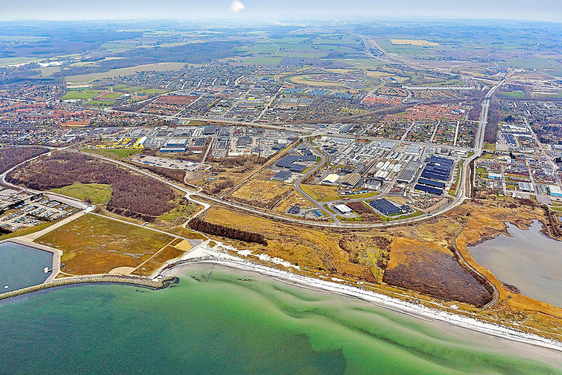Erhvervsgrund på Valdemarshaab i Køge - Område