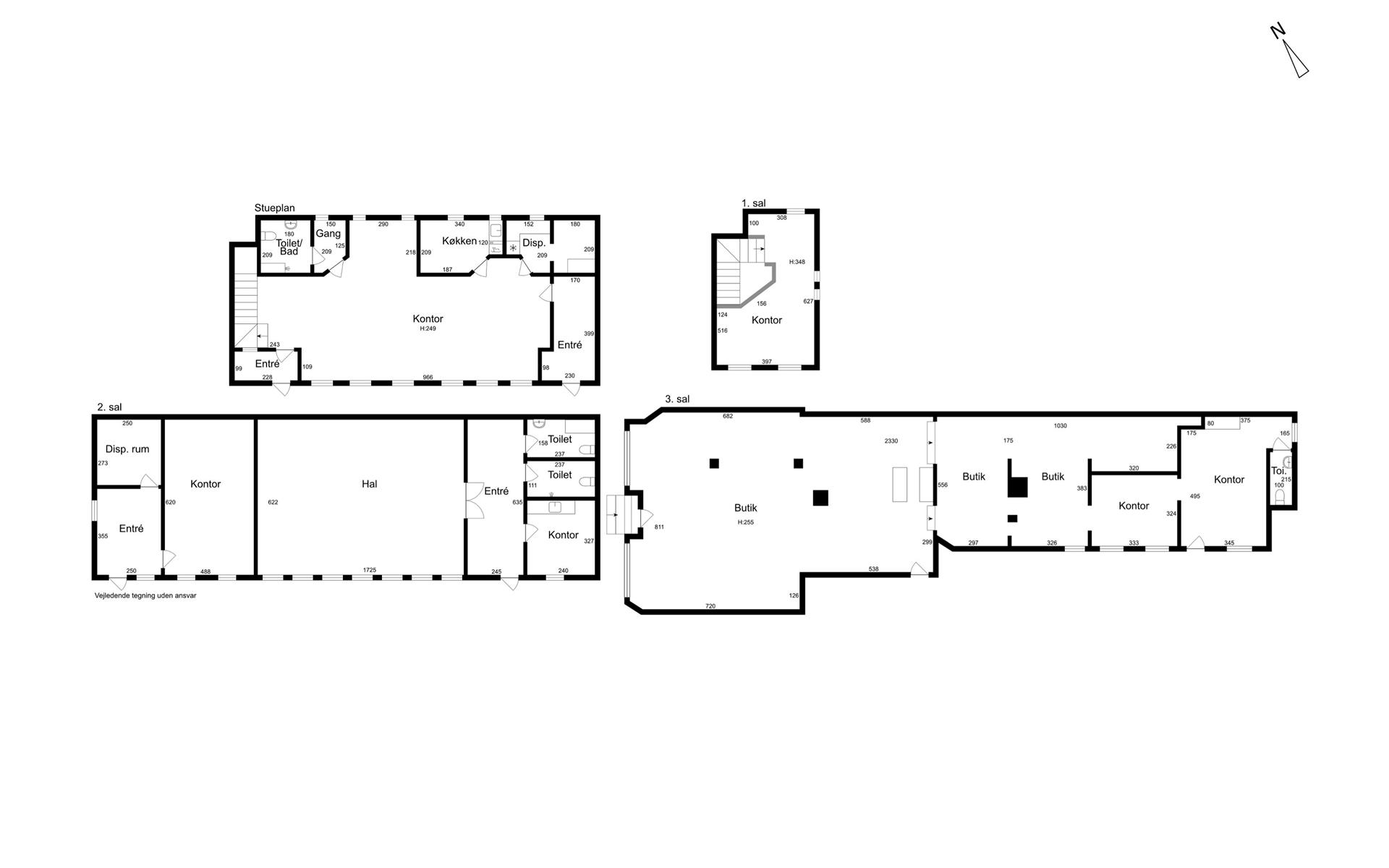 Detail på Brogade i Køge - Plantegning