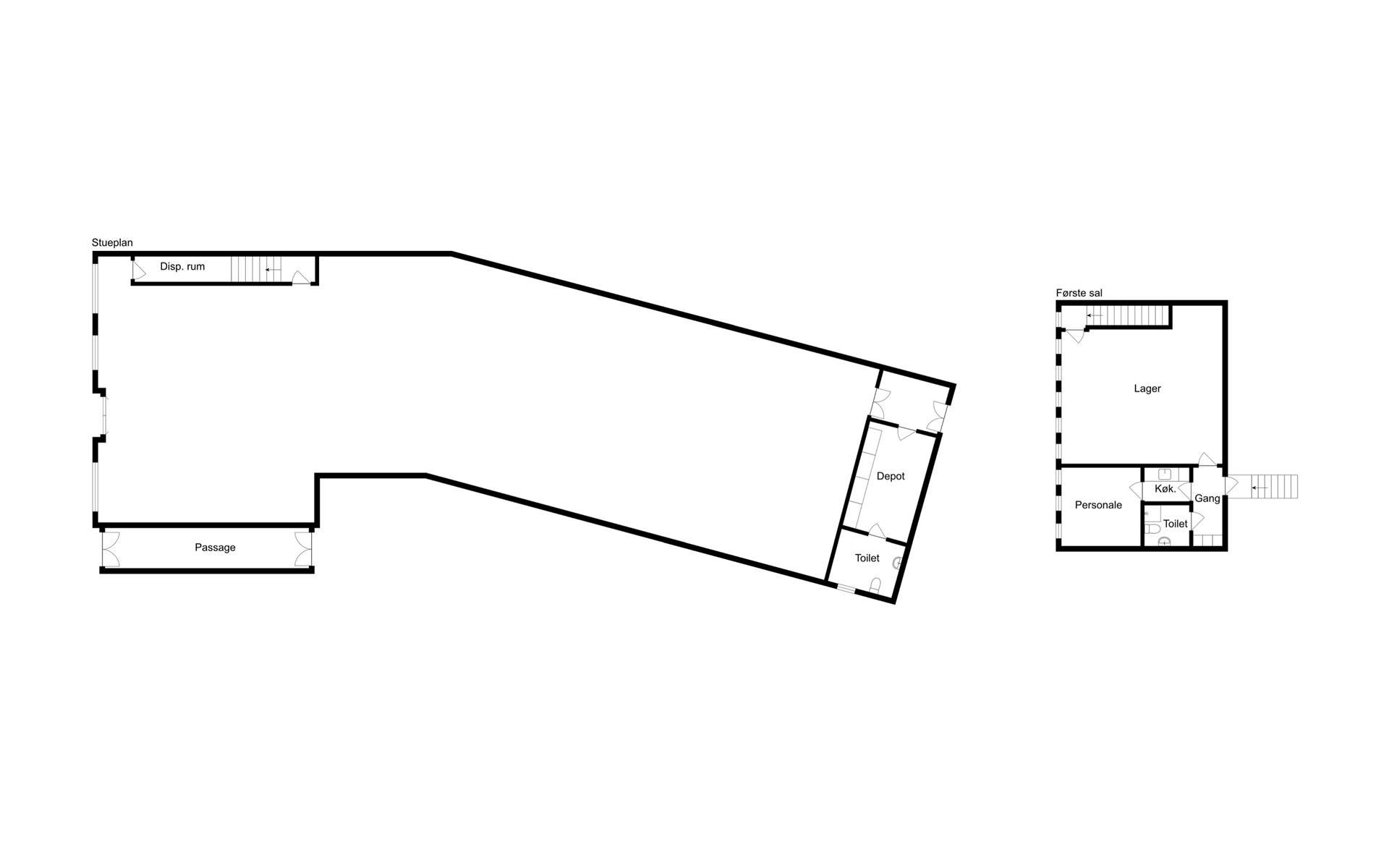Detail på Jernbanegade i Frederikssund - Plantegning
